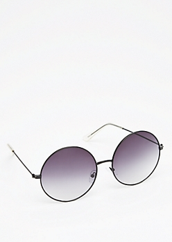 Black Smoky Round Sunglasses