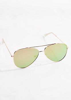 Pink Mirror Lens Aviators