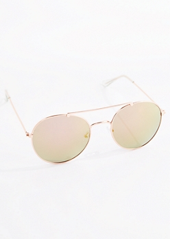 Golden Rounded Aviators