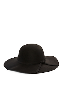 Black Oversized Floppy Felt Hat