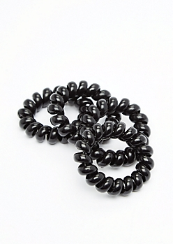 4-Pack Black Hair Coils
