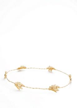 Metallic Leaf Crown