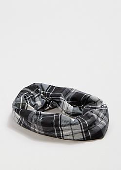 Black & White Plaid Headwrap