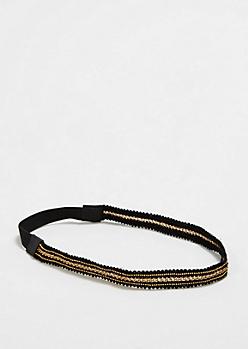 Gold Chain & Bead Headband