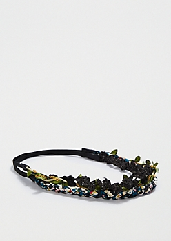 3-Pack Braided Crochet Headbands