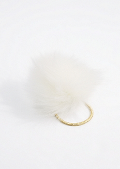 White Pom Hairband