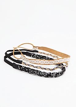 3-Pack Braided Paisley Headband