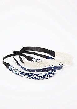 3-Pack Marine Hairbands