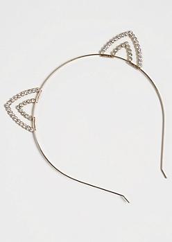Tiered Stone Cat Ear Headband