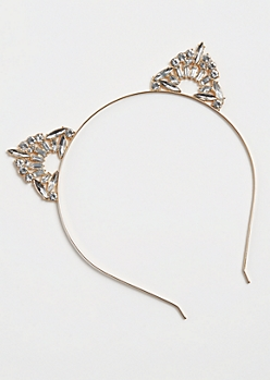Golden Geo Stone Cat Ear Headband