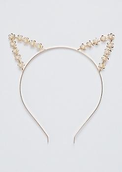 Daisy Pearl Cat Ear Headband