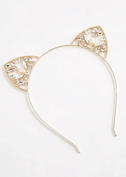 Gemstone Cat Ear Headband