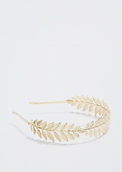 Engraved Leaf Goddess Headband
