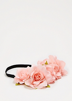 Pink Oversized Rose Crown