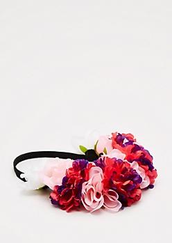 Pink Carnation Flower Crown