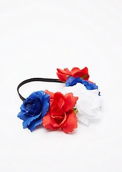 Americana Rose Flower Crown