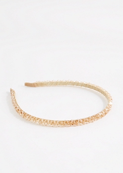 Golden Beaded Headband