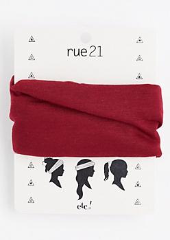 Burgundy Multi-Wear Hair Wrap