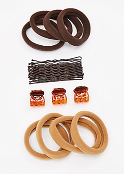 Brown Essential Hair Accessory Trio