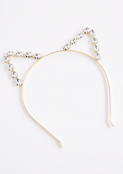 Clear Gem Cat Ear Headband