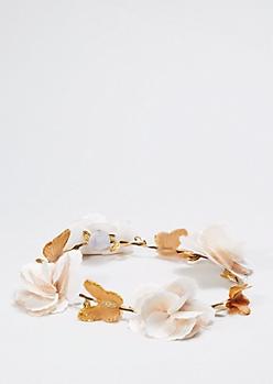 Butterfly Garden Flower Crown