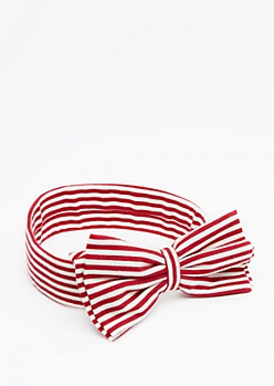 Striped Bow Hairband