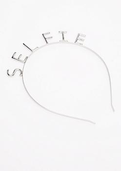 Selfie Silver Metal Headband