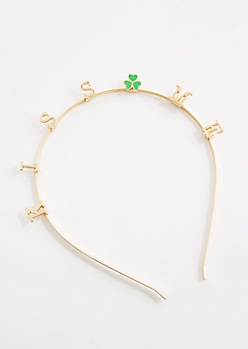 Kiss Me Shamrock Headband