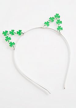 Shamrock Cat Ear Headband