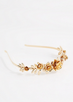 Golden Rose Headband