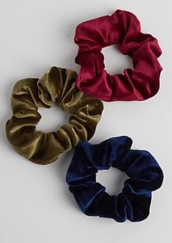3-Pack Velvet Scrunchie Set