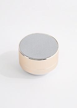 Gold Aluminum Wireless Speaker