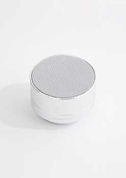 Silver Aluminum Wireless Speaker