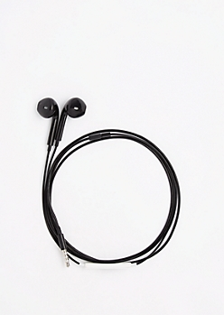 Black In-Line Mic Earphones