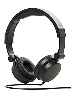 Black Revolve Stereo Headphones
