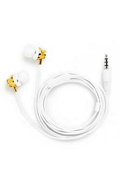 Metallic Gold Stereo Earbuds