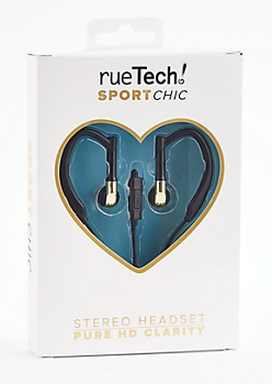 Metallic Gold Sport Stereo Headset