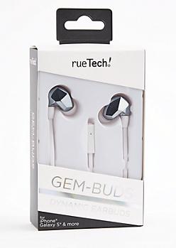 Silver Gem Universal Earbuds