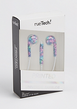 Multi Color Tie Dye Earbuds