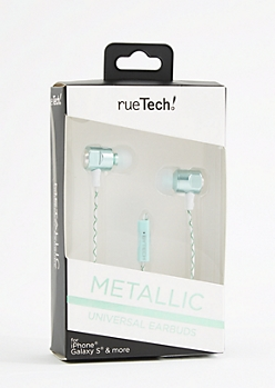 Metallic Mint 4 Ft Earbuds