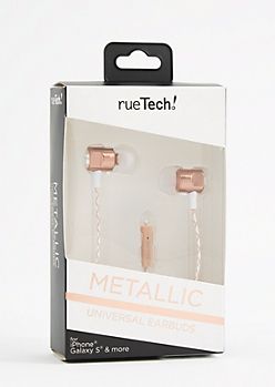 Metallic Rose Gold 4 Ft Earbuds