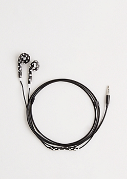 Polka Dot Print Earbuds