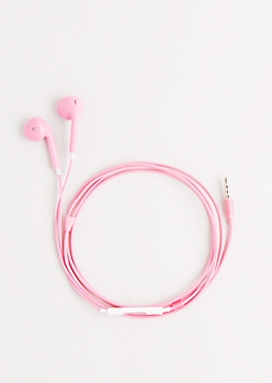 Light Pink Love Of Music Earbuds