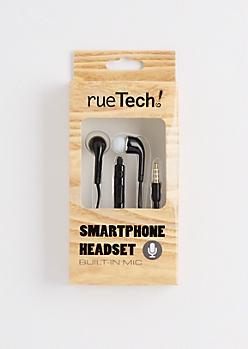 Black Smartphone Headset