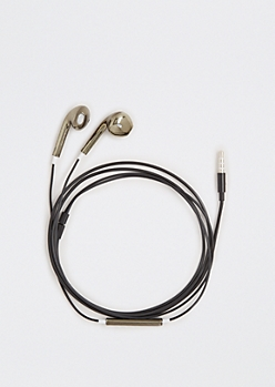 Metallic Black Earbuds