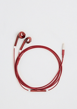 Metallic Red Earbuds