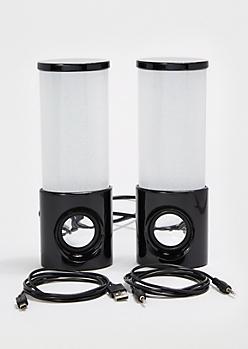 Black Dancing LED Light-Up Speakers