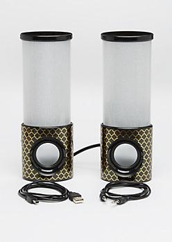 Geo Foiled LED Light-Up Speakers
