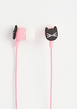 Black Cat Ear Buds