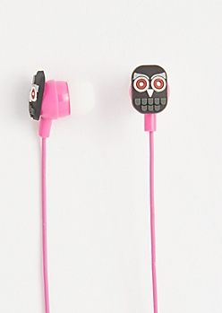 Black Owl Ear Buds